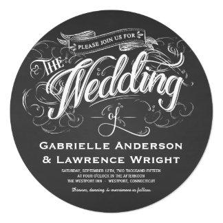 Inbjudningar för bröllop för konst för svart tavla