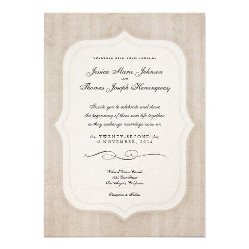 Inbjudningar för bröllop för Monogram för vintageb