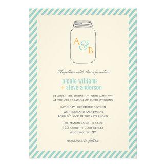 Inbjudningar för bröllop för Monogram för vintageM