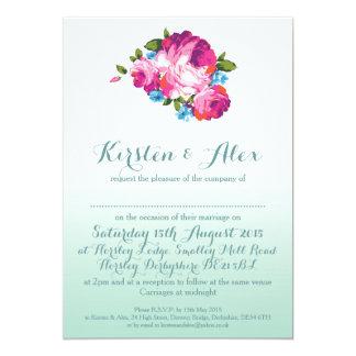 Inbjudningar för bröllop för Ombre Mint blom-