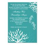 Inbjudningar för bröllop för Seahorse för