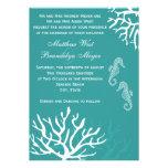 Inbjudningar för bröllop för Seahorse för krickaha
