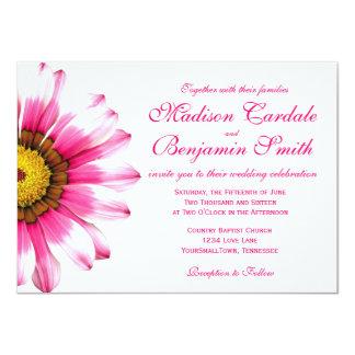 Inbjudningar för bröllop för shock rosadaisyblomma