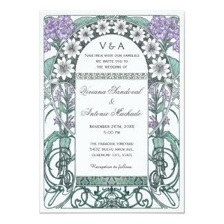 Inbjudningar för bröllop för smaragdVioletträdgård