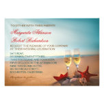 Inbjudningar för bröllop för solnedgångstrand roma