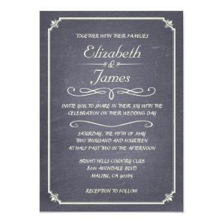 Inbjudningar för bröllop för svart tavla för