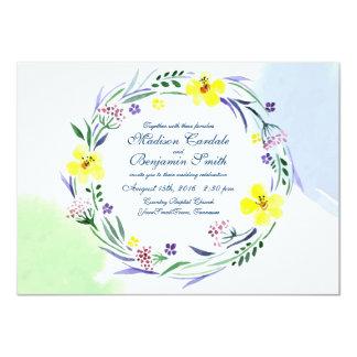 Inbjudningar för bröllop för vattenfärgvårträdgård