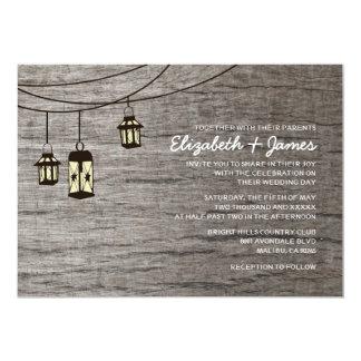 Inbjudningar för bröllop för vintagenatt ljusa