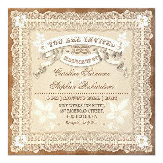 inbjudningar för bröllop för vintagesnöre
