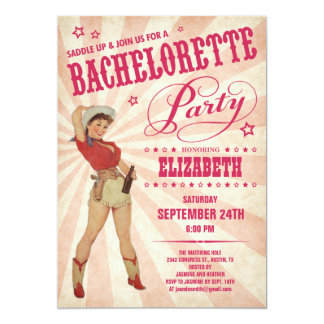 Inbjudningar för CowgirlBachelorette party