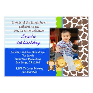 Inbjudningar för födelsedag för foto för