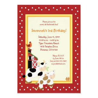 Inbjudningar för födelsedag för land för Barnyard