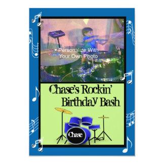 Inbjudningar för födelsedag för Rockin musiktema