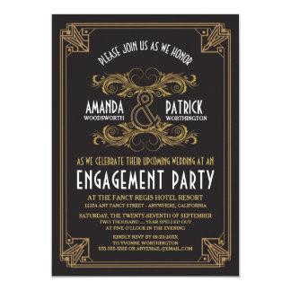 Inbjudningar för förlovningsfest för art