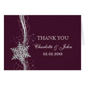 inbjudningar för fuchsia- och silvervinterbröllop hälsningskort