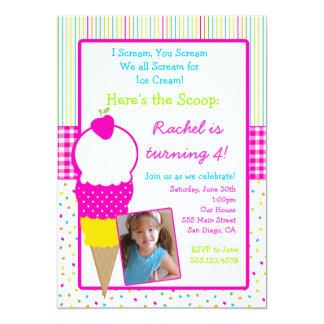 Inbjudningar för glasspartyfödelsedag