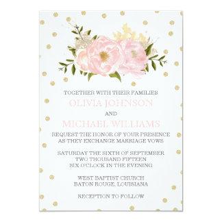 Inbjudningar för glitterpionbröllop