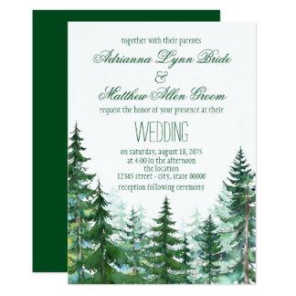 Inbjudningar för granträdbröllop