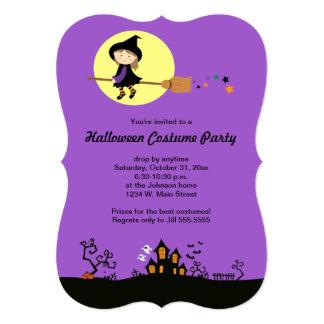 Inbjudningar för halloween fest för flyghäxa