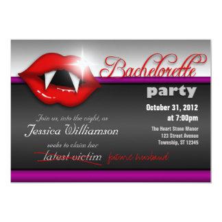 Inbjudningar för Halloween vampyrBachelorette