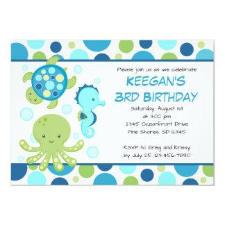 Inbjudningar för havsblåttfödelsedag