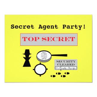 """Inbjudningar """"för hemligt agent-/spion"""" party"""
