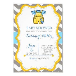 Inbjudningar för jumper för baby showersparrepojke