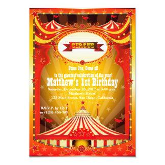 Inbjudningar för karneval för cirkus för