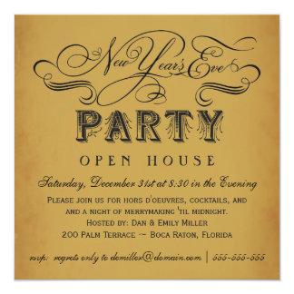 Inbjudningar för nyårsaftonpartyvintage