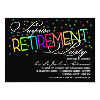 Inbjudningar för överrrakningpensionparty