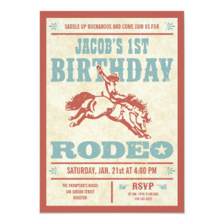 Inbjudningar för party för CowboyfödelsedagRodeo