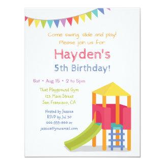 Inbjudningar för party för lekplatshusbarns