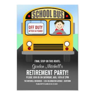 Inbjudningar för party för skolbusschaufförpension