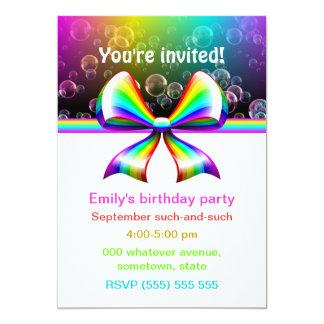 Inbjudningar för regnbågebandparty (anpassadet!) 12,7 x 17,8 cm inbjudningskort