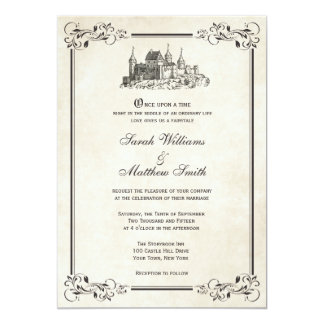 Inbjudningar för sagaslottbröllop 12,7 x 17,8 cm inbjudningskort