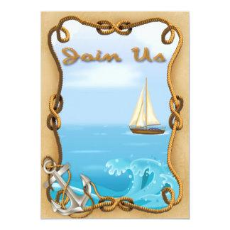 Inbjudningar för segelbåtfars dagparty