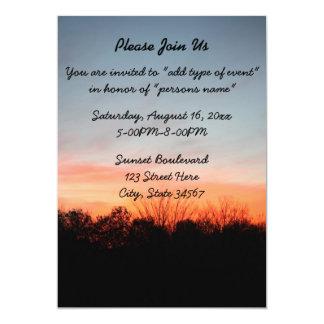 Inbjudningar för solnedgångbröllopmeddelande