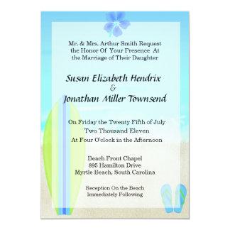 Inbjudningar för strandsurfarebröllop