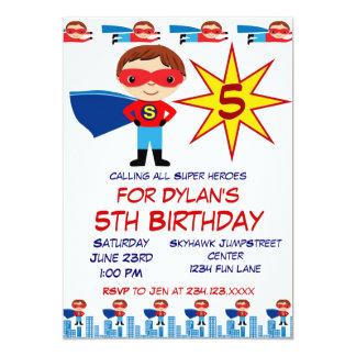 Inbjudningar för Superherobarns födelsedagparty 12,7 X 17,8 Cm Inbjudningskort