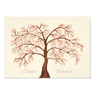 Inbjudningar för träd för bröllopSakura