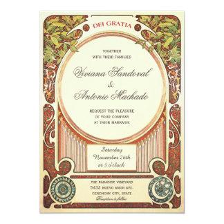 Inbjudningar för vintageart nouveaubröllop mig