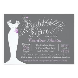 Inbjudningskort för möhippan elegant bröllopkappa