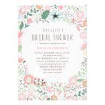 Inbjudningskort för möhippan för blomsterträdgård