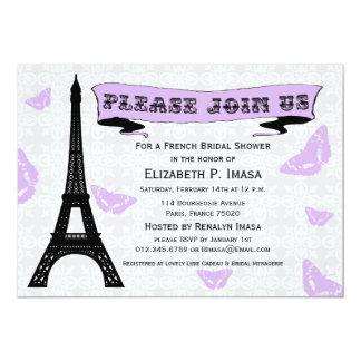 Inbjudningskort för möhippan för Eiffel tornfransk