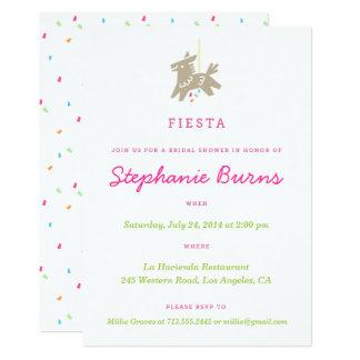 Inbjudningskort för möhippan för FiestaPiñata
