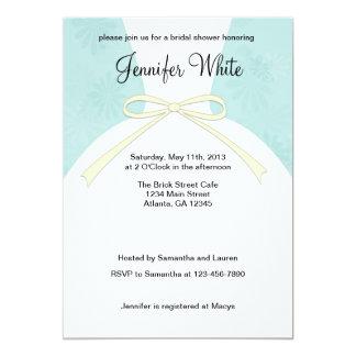 Inbjudningskort för möhippanblåttklänning