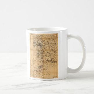 Inbördeskrig Richmond och Petersburg karta (1865) Kaffemugg