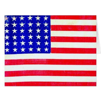 Inbördeskrigamerikanska flaggan 1865 jumbo kort
