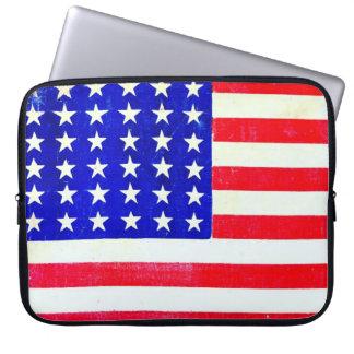 Inbördeskrigamerikanska flaggan 1865 laptopfodral