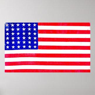 Inbördeskrigamerikanska flaggan 1865 poster